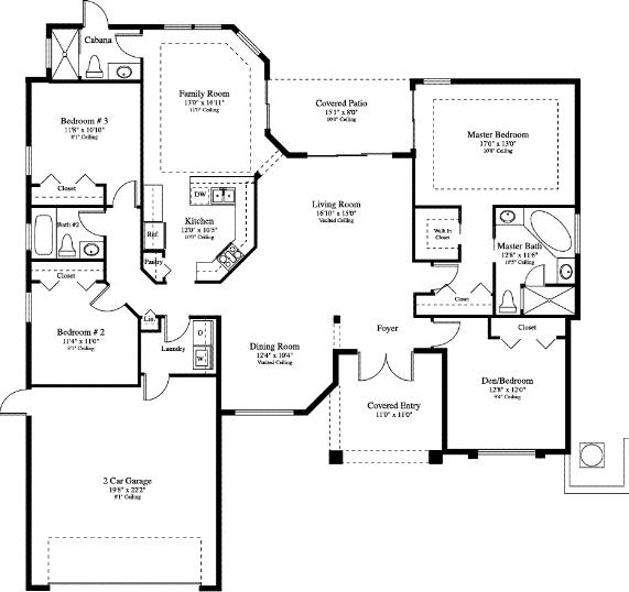 The Treviso in Cyprus Ridge - Floor Plan